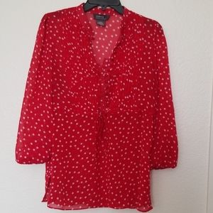 Nice details polka dot with strings top